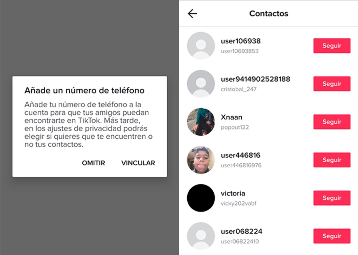 obtenir quelqu'un sur TikTok sans nom de vos contacts mobiles
