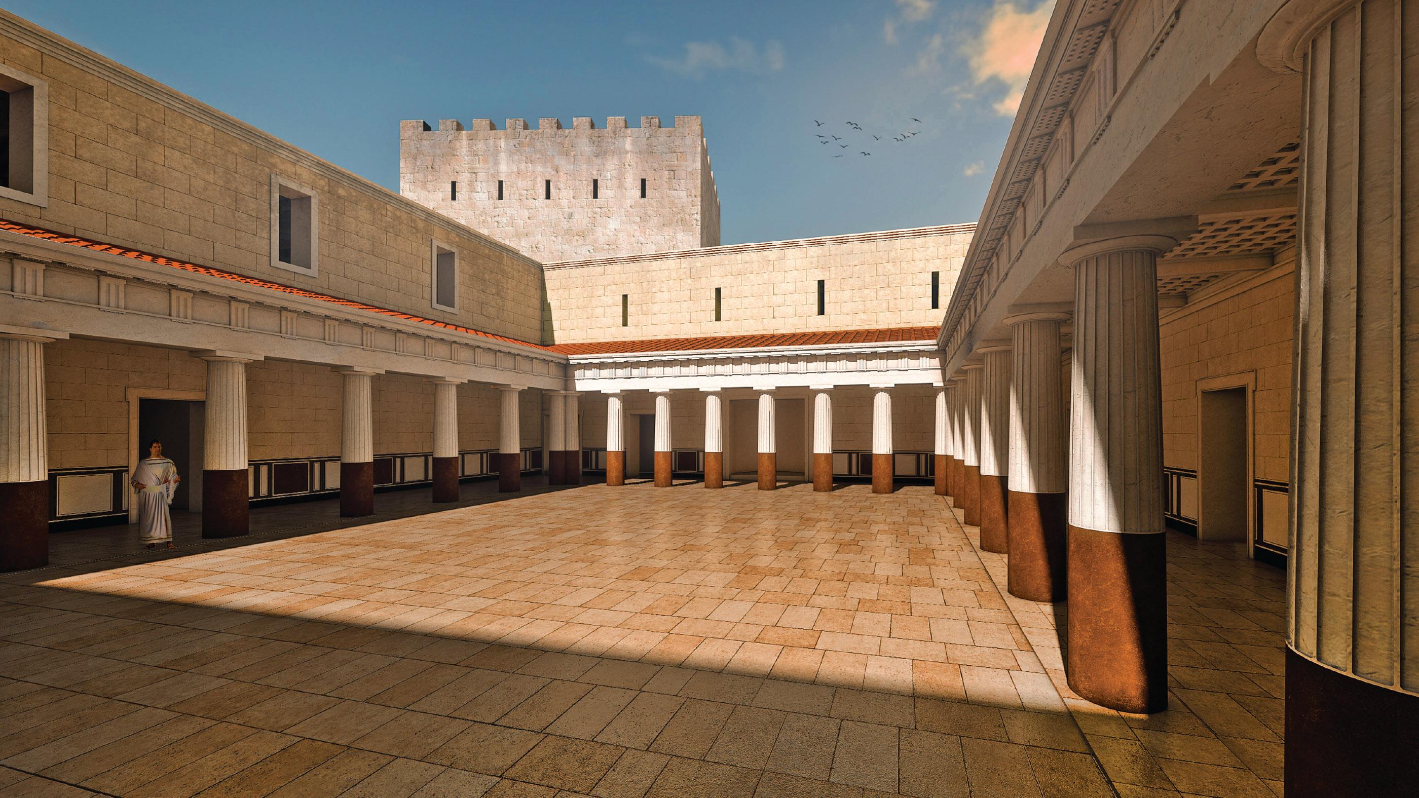 La reconstruction de la cour où la danse de Salomé a pu avoir lieu.