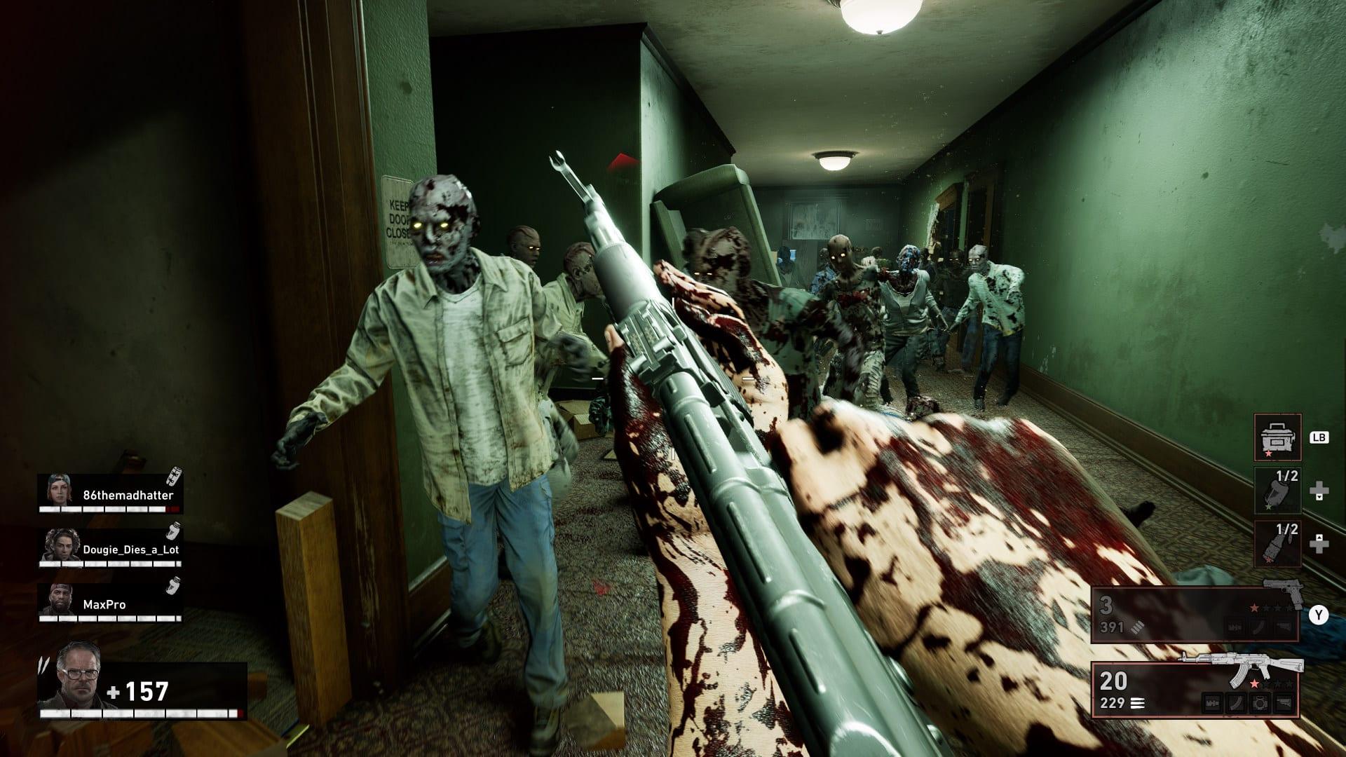 Back 4 Blood - Aperçu des images (armes à feu et zombies)