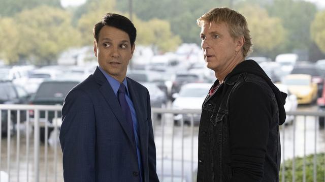 Daniel Larusso et Johnny Lawrence concluent l'alliance tant attendue (Photo: Netflix)