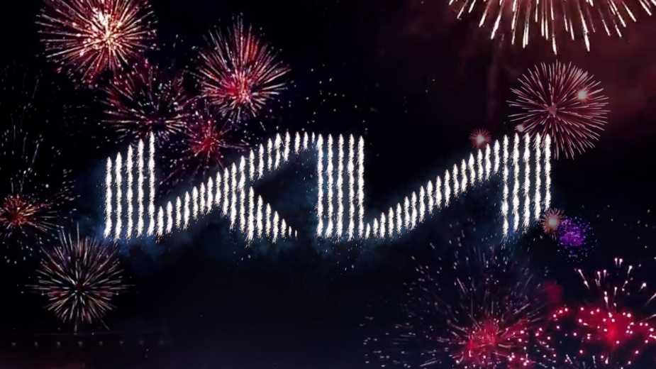 Fireworks Et 303 Drones Affichent Le Nouveau Logo Kia