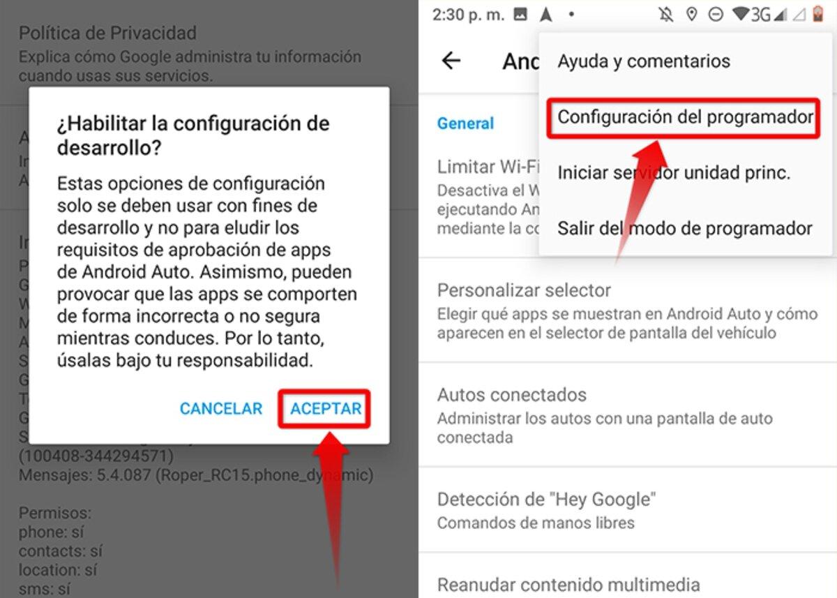 Étapes pour activer le mode développeur dans Android Auto