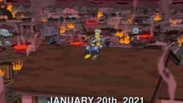 Les Simpsons ont prédit les incidents au Capitole américain