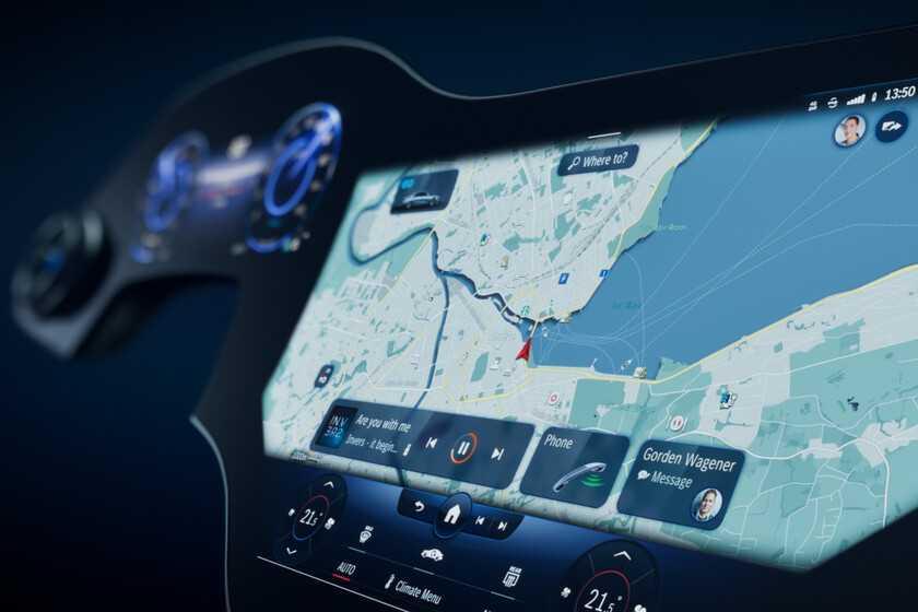 Un écran de 1,5 mètre pour le conducteur et le passager: Mercedes-Benz dévoile son Hyperscreen pour le futur EQS