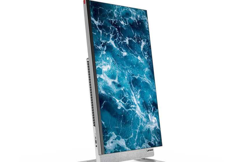 Lenovo Yoga AIO 7: ressemble à un autre PC tout-en-un, mais ce n'est pas le cas;  se distingue par son superbe écran IPS 4K rotatif de 27 pouces