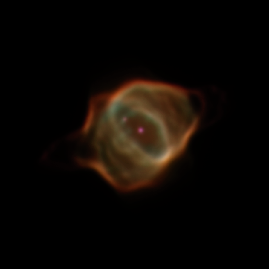 Cette image montre la nébuleuse planétaire Hen 3-1357, surnommée la nébuleuse Stingray, capturée par le télescope spatial Hubble de la NASA en janvier 2016. Cette image de la nébuleuse Stingray montre qu'elle a radicalement changé en luminosité et en forme par rapport à son premier portrait par Hubble en 1996.