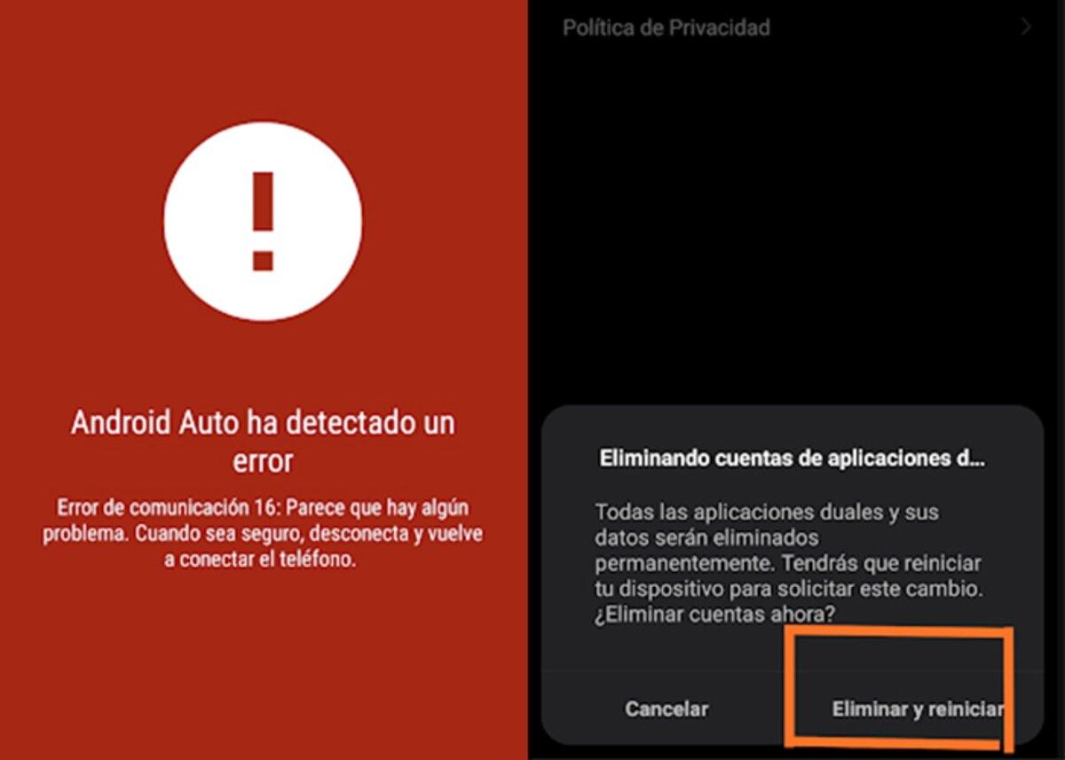 Android Auto a rencontré une erreur 16
