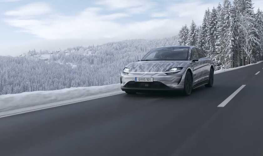 Sony Vision-S: la voiture électrique de Sony parcourt déjà les rues d'Europe et confirme de nouveaux détails