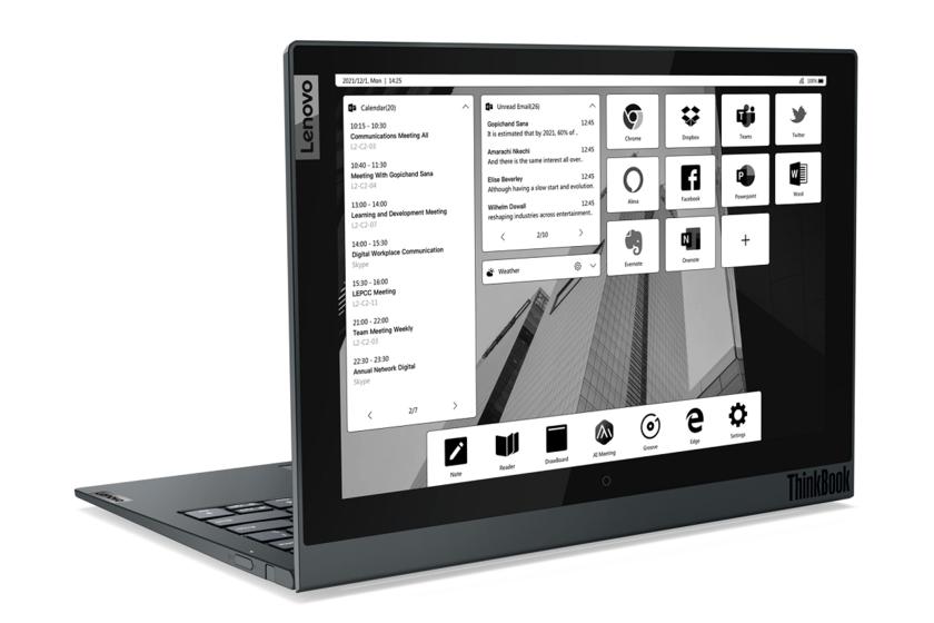 Lenovo renouvelle son ThinkBook avec des modèles avec un deuxième écran à encre électronique, sans lui et pour le travail à distance