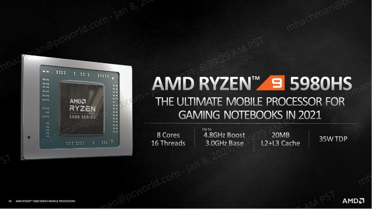 AMD ryzen 9 5980