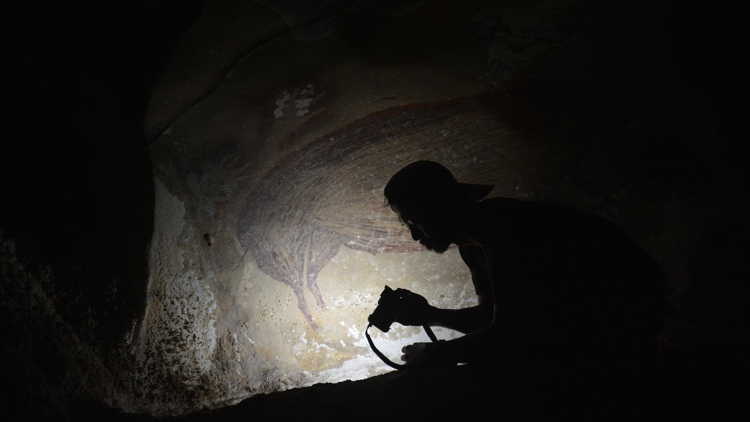 La plus ancienne peinture animalière connue est ce cochon de la grotte Leang Tedongnge en Indonésie.