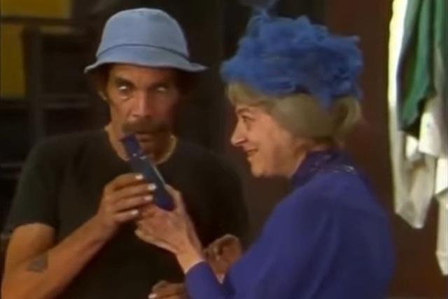 """Dans """"El Chavo del 8"""", Doña Clotilde a tout fait pour que Don Ramón tombe amoureux.  (Photo: Televisa)"""