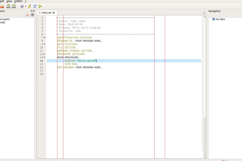 Je suis un développeur professionnel et je programme toujours en COBOL