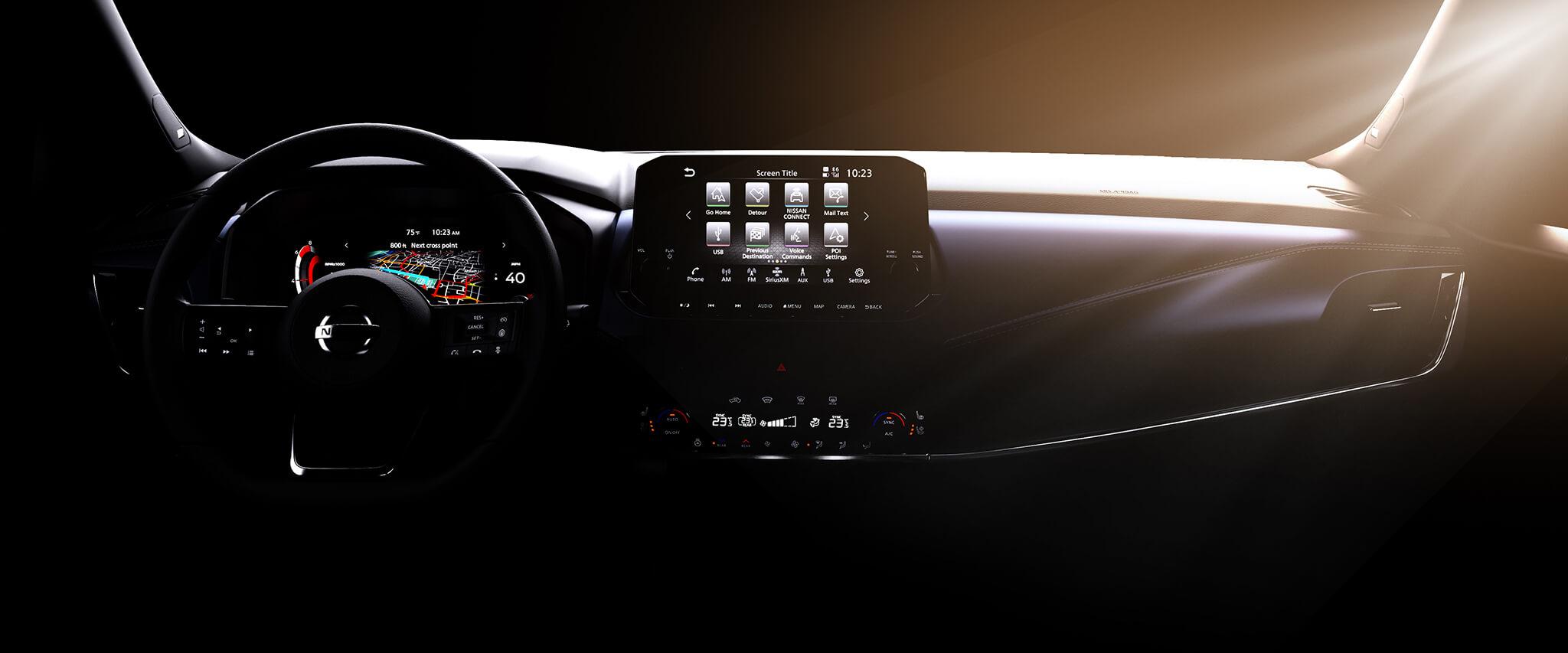 Intérieur du Nissan Qashqai 2021