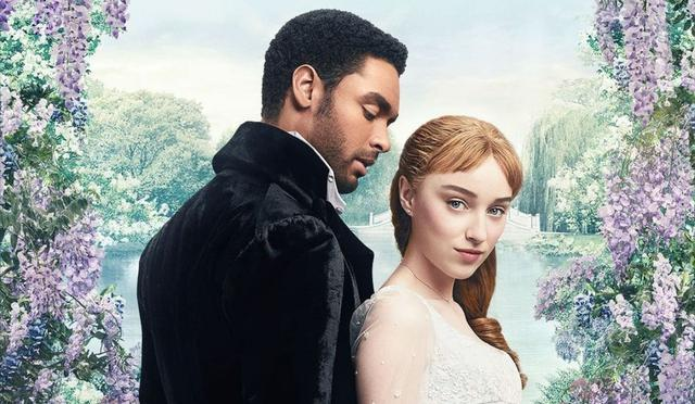 Daphné et Simon se sont mariés rapidement pour empêcher un rival de dire qu'il l'avait vue embrasser le duc (Photo: Netflix)