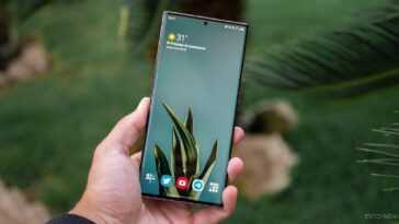 Écran d'un Samsung Galaxy Note20 Ultra