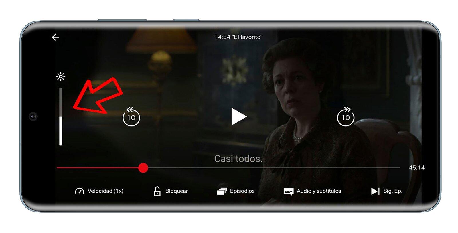 Modifier la luminosité dans l'application Netflix