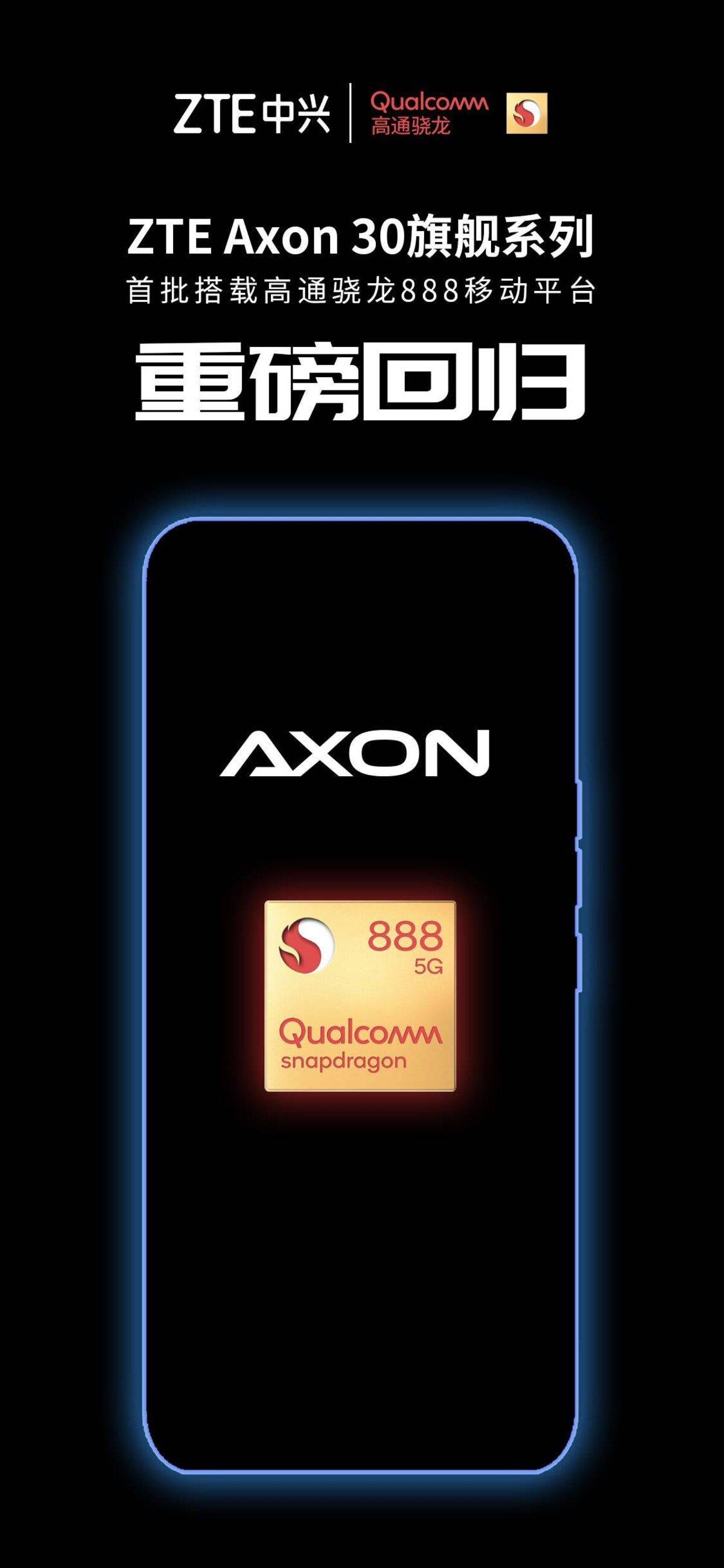 ZTE Axon 30: deuxième génération de terminaux avec caméra sous l'écran