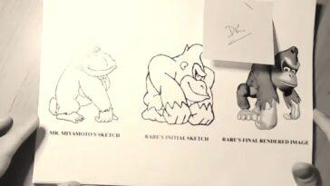 Vidéo: 27 ans plus tard, les premiers croquis du concept Donkey Kong Country sont révélés au monde