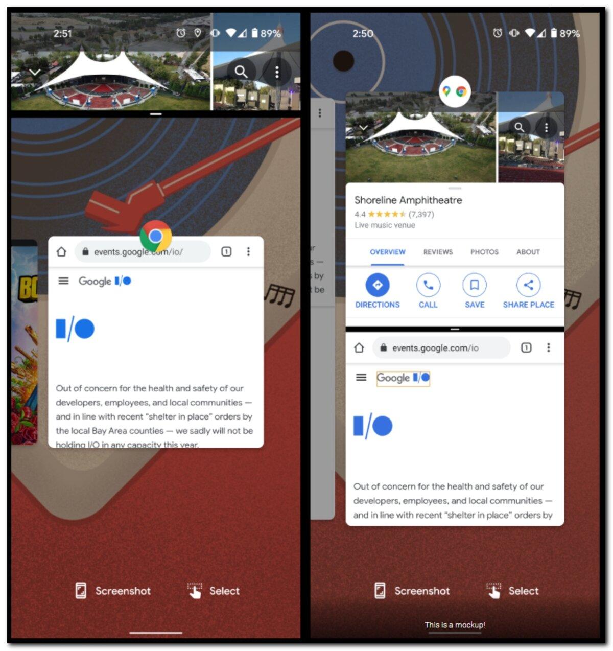 Écran partagé Android 11 vs Android 12