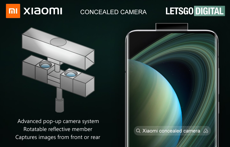 La caméra rétractable de Xiaomi avec son «miroir réfléchissant».