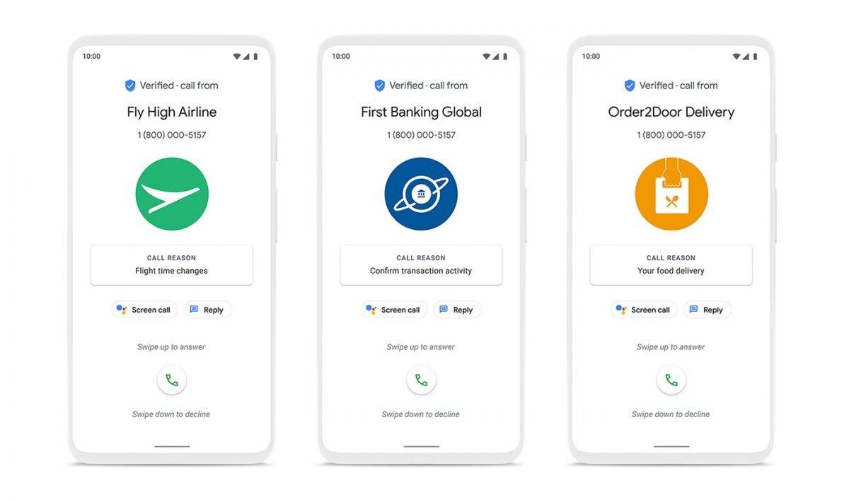 Appels vérifiés dans l'application Google Phone