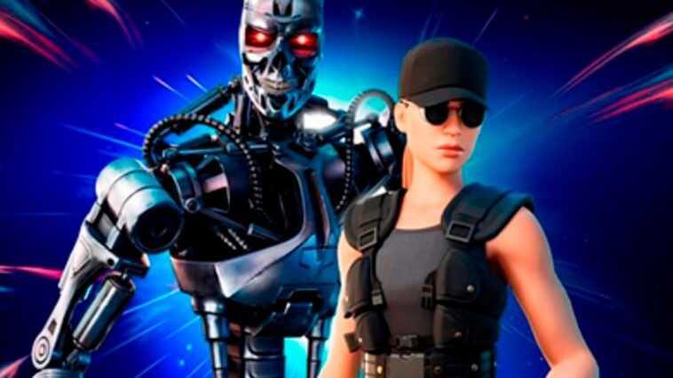 Terminator et Sarah Connor arrivent sur l'île Fortnite