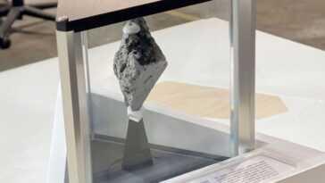 Un Rocher Lunaire Dans Le Bureau Ovale: L'affichage Lunaire Du