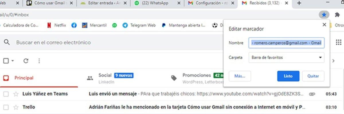 signets Gmail