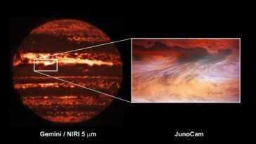 Réchauffez Vous Avec Cette Image Chaleureuse D'un Point Chaud Sur Jupiter