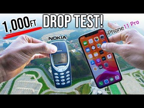 Ça fait mal juste de regarder: lancez des smartphones haut de gamme à 300 mètres de haut