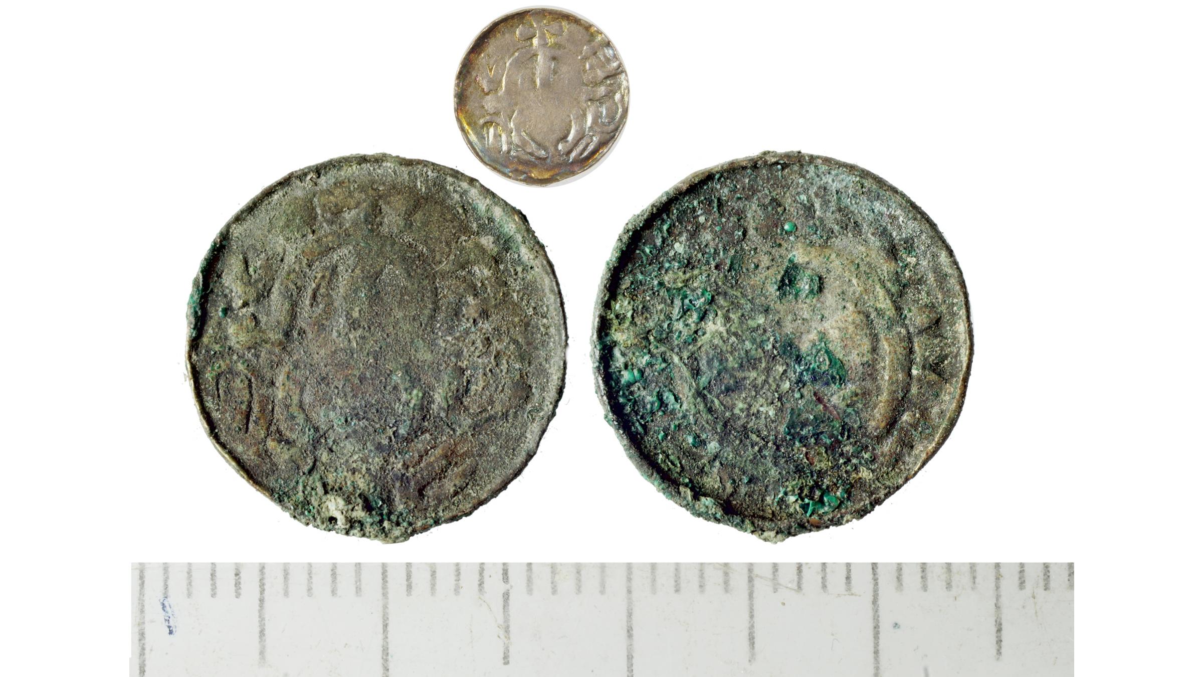 Un denier (pièce d'argent) de Sieciech, un homme d'État polonais de haut rang, daté de 1095-1100.