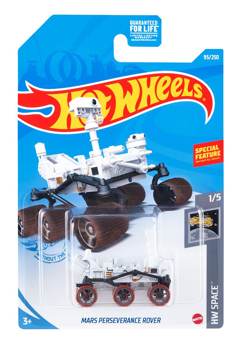 Hot Wheels Mars Perseverance Rover arrive dans les magasins avant l'arrivée du rover de la taille d'une voiture à Jezero Crater pour rechercher des signes de vie passée sur Mars et mettre en cache des échantillons pour le retour sur Terre.