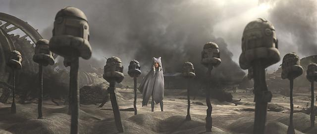 La fin d'Ahsoka dans Clone Wars est pleine de tristesse et on comprend pourquoi elle a voyagé seule tout ce temps (Photo: Disney Plus)
