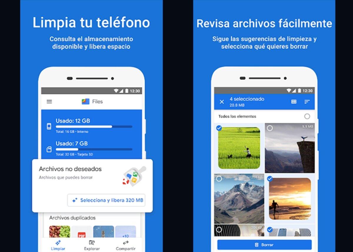 Google Files pour supprimer les photos en double