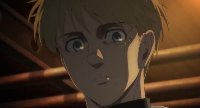 Armin est très déçu d'Eren, mais l'a quand même aidé avec son plan (Photo: Crunchyroll)