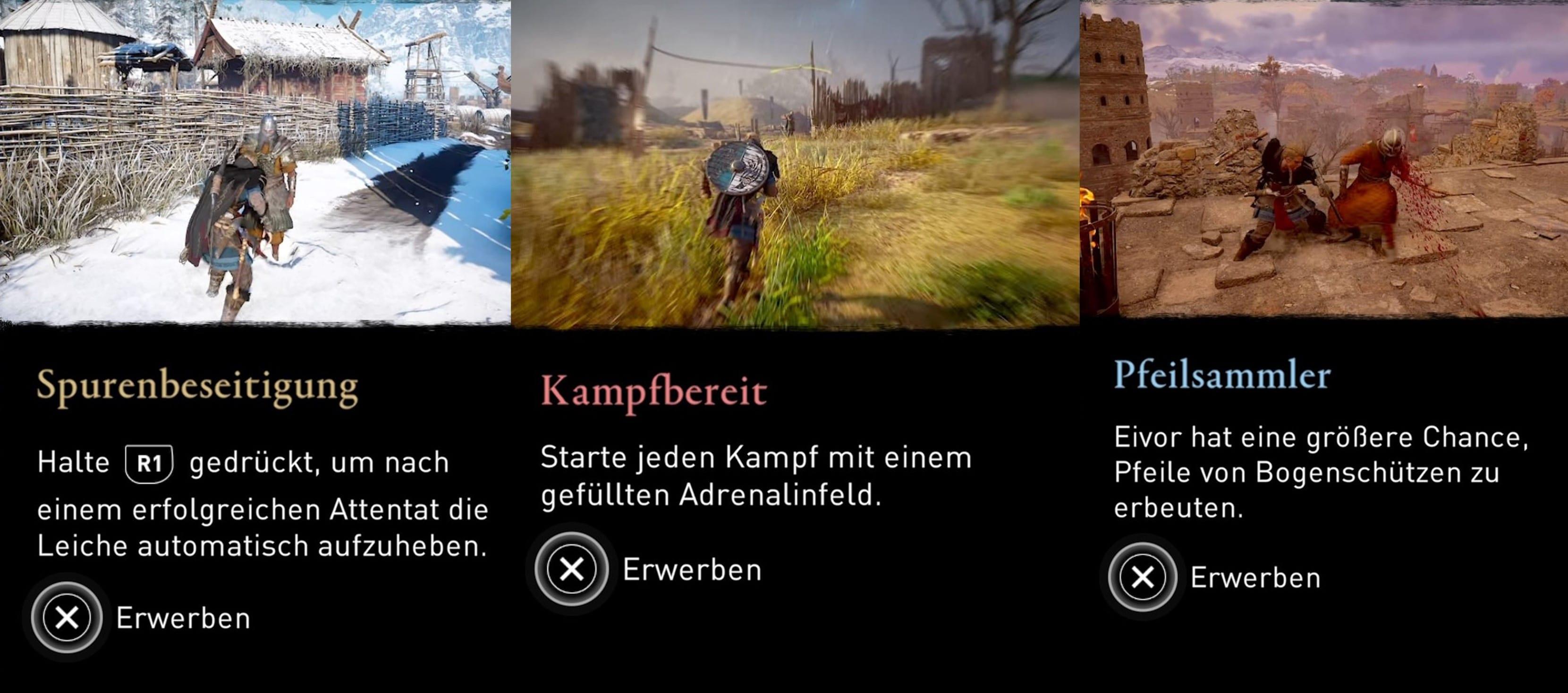 Assassin's Creed Valhalla nouvelles compétences