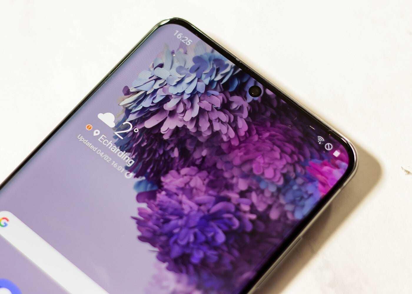 Galaxy S20 Ultra, trou dans l'écran