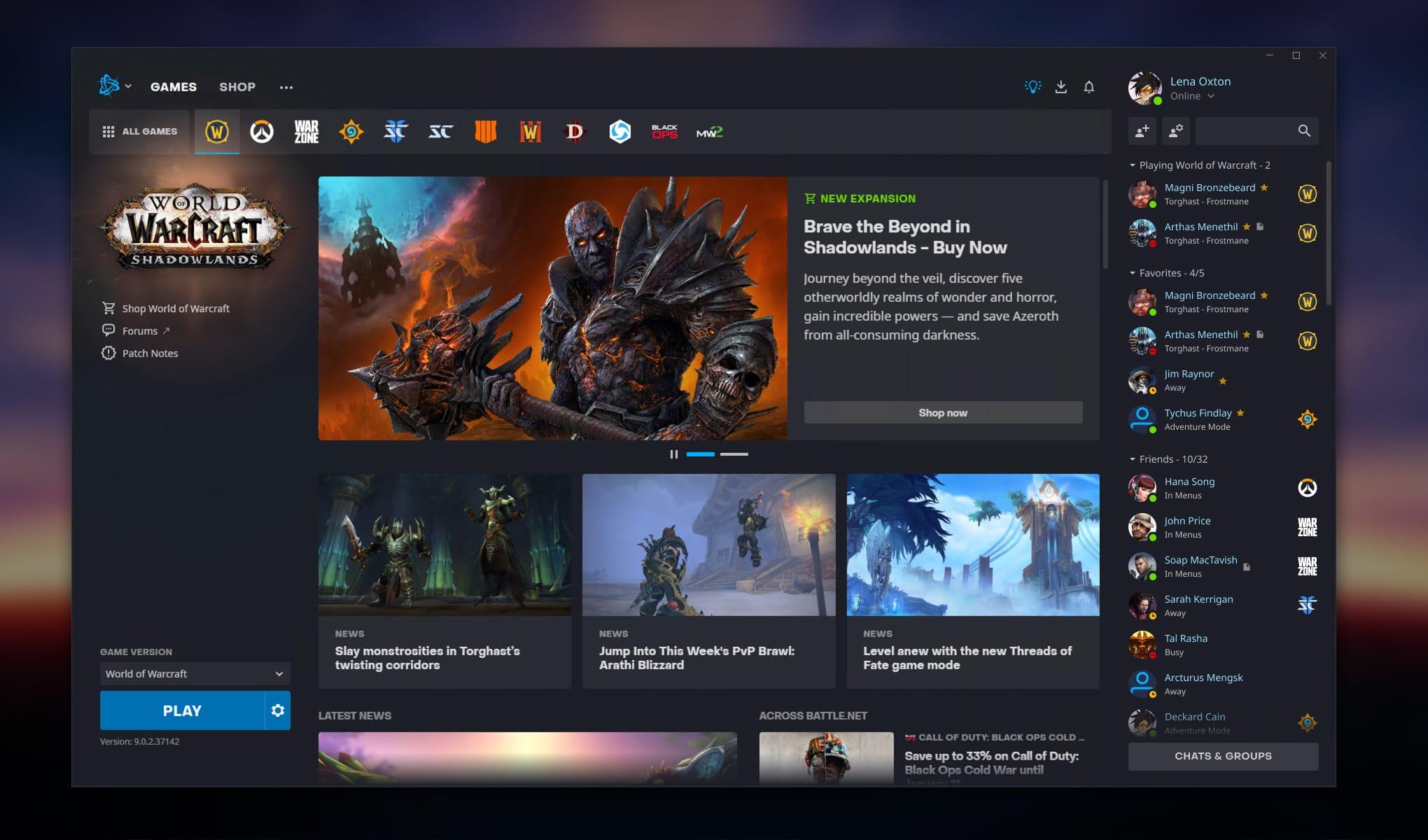 Nouveau lanceur Blizzard pour Battlenet - Apparence
