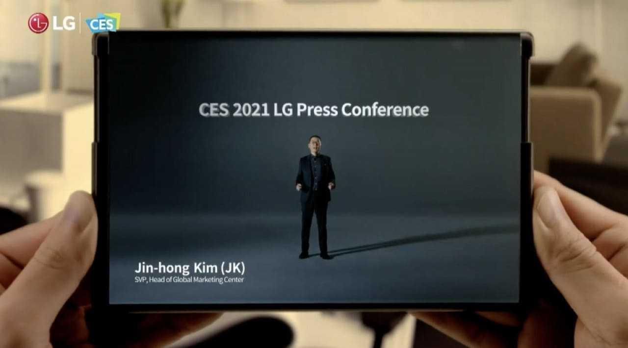 CES 2021: LG a présenté son tout premier smartphone enroulable lors de l'événement
