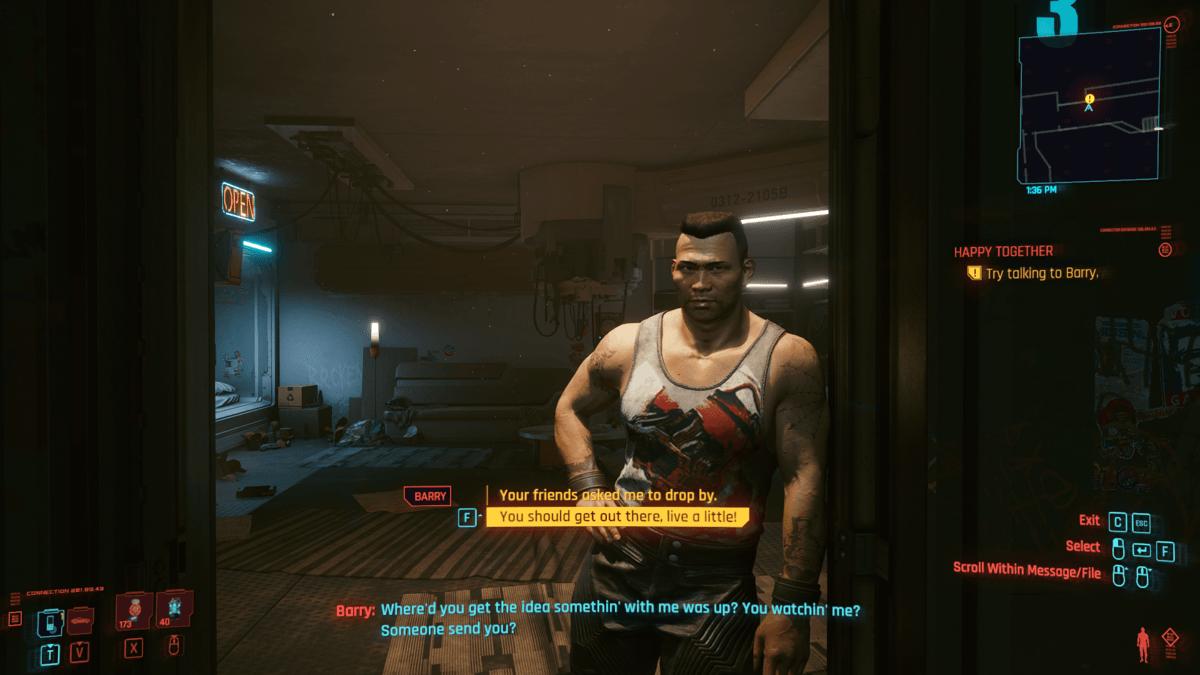 Comment Faire La Quête Happy Together Dans Cyberpunk 2077