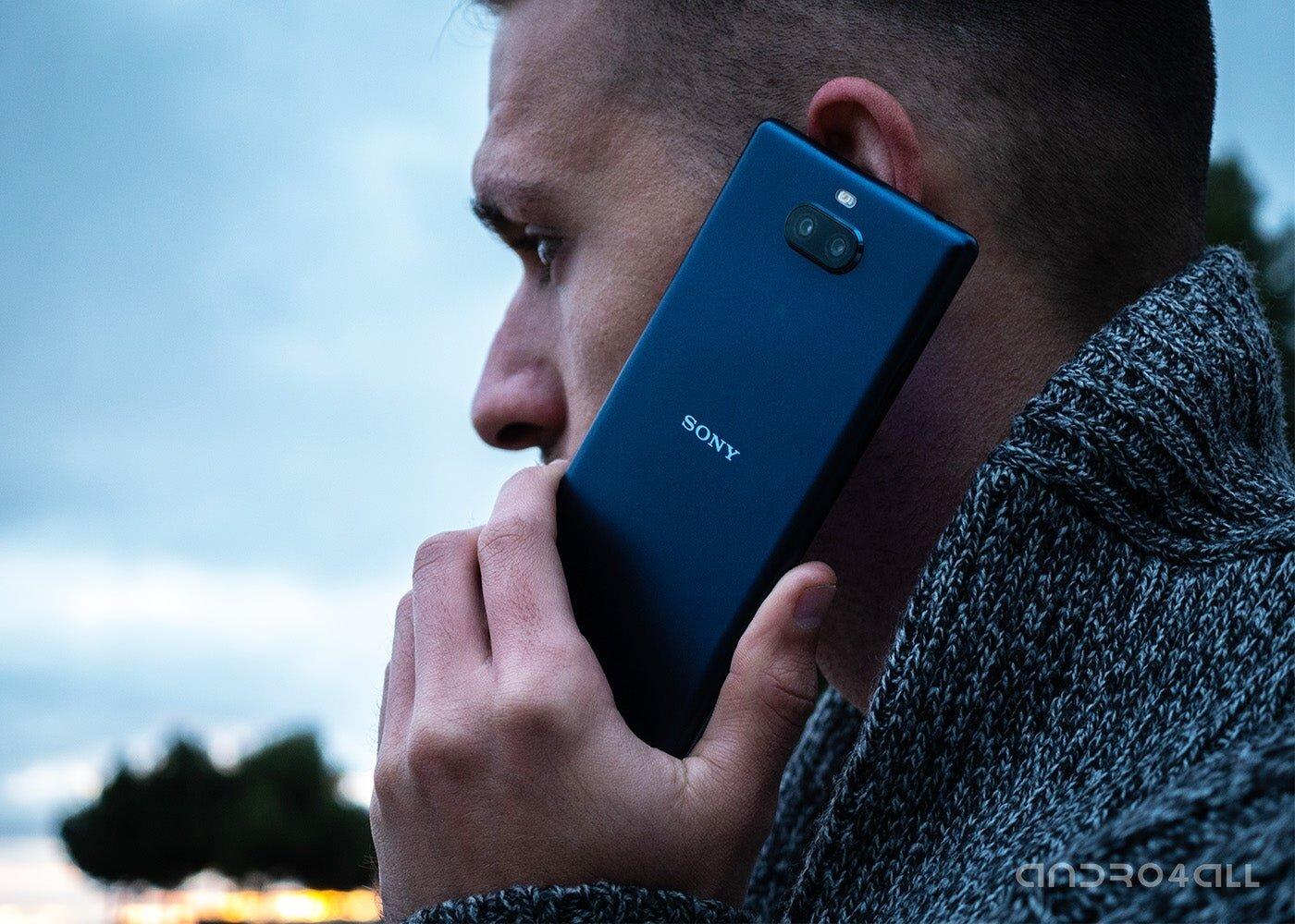 Appel téléphonique avec un mobile Sony
