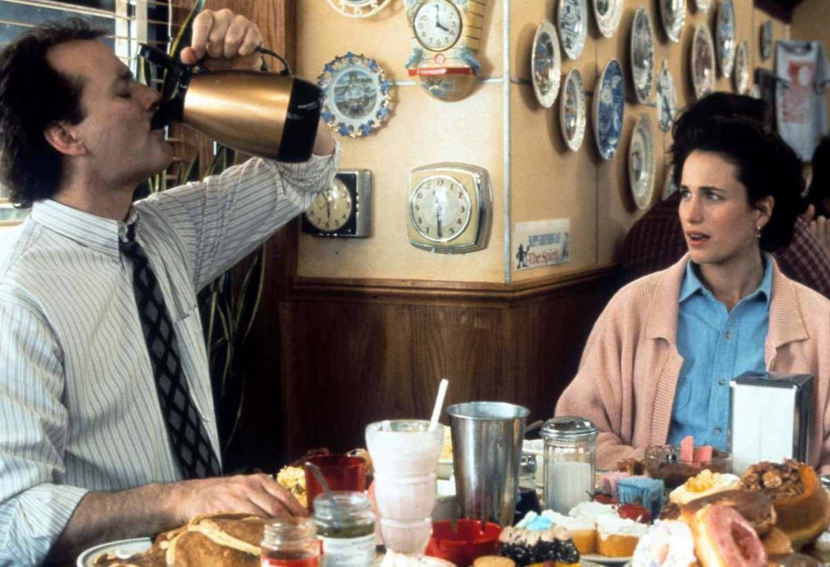 Bill Murray and Andie MacDowell in a scene from the film