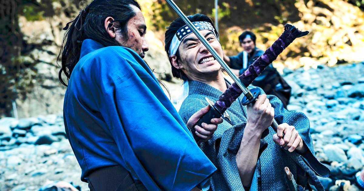 Crazy Samurai A Une Scène D'action épique D'arts Martiaux à