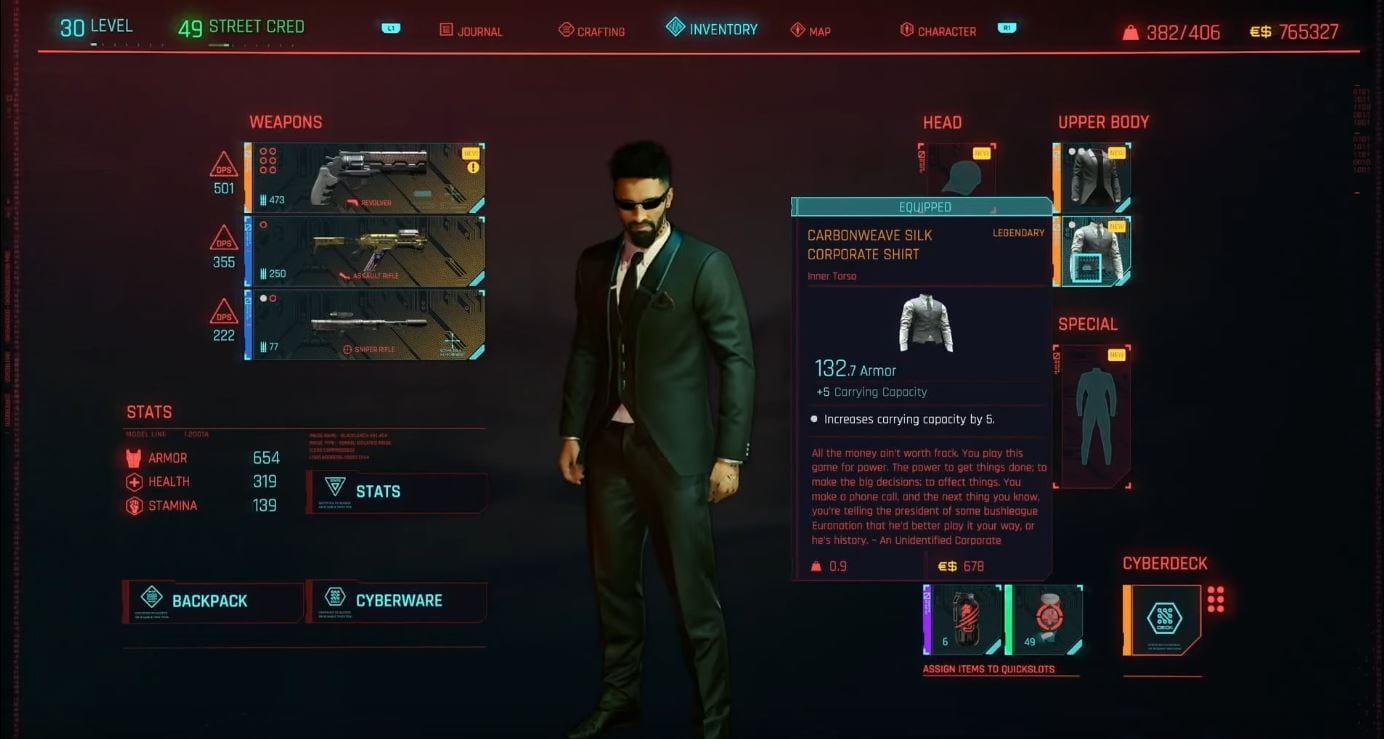 Cyberpunk 2077: Tenue d'entreprise légendaire - Guide (Solution)