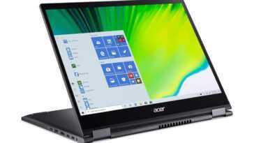 Économisez 160 € sur Cet Ordinateur Portable Convertible Acer Spin