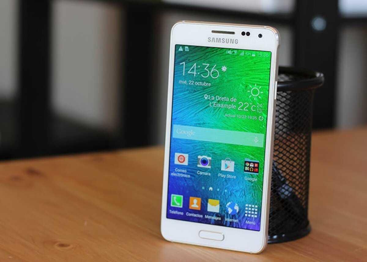 Gros plan sur le Samsung Galaxy Alpha
