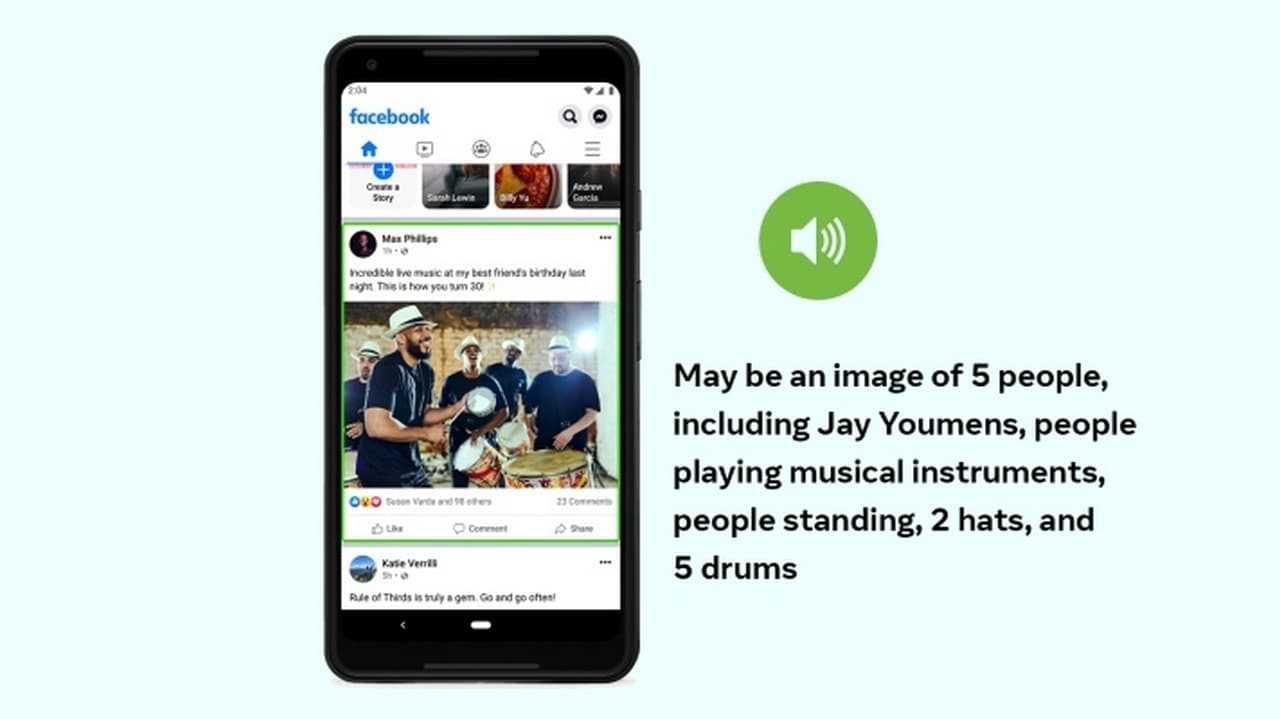 Facebook met à jour le texte alternatif automatique pour générer des descriptions de photos automatisées pour les utilisateurs malvoyants
