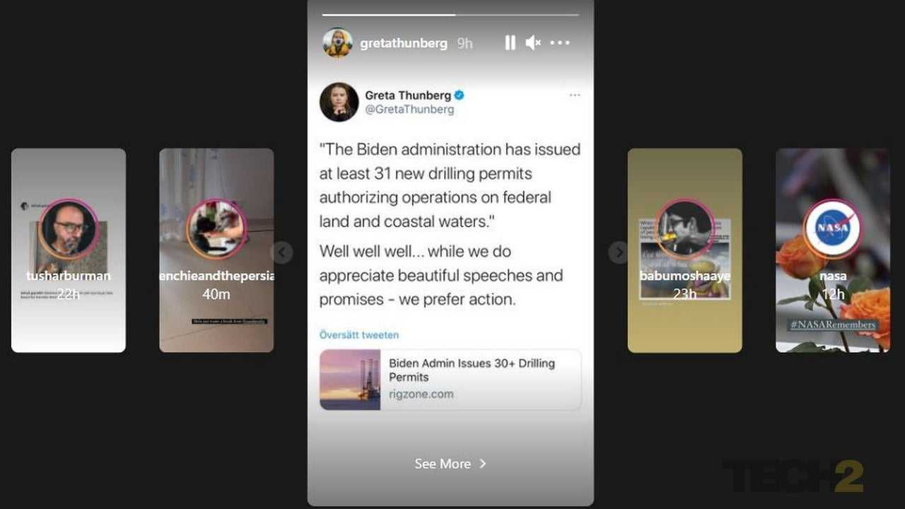 Instagram déploie une nouvelle mise en page de carreau pour la fonctionnalité Stories sur le bureau