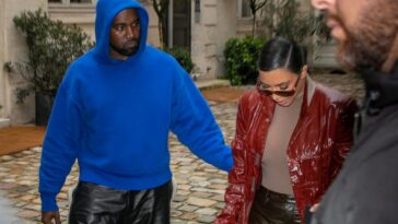 Kim Kardashian West and Kanye West photographed walking together